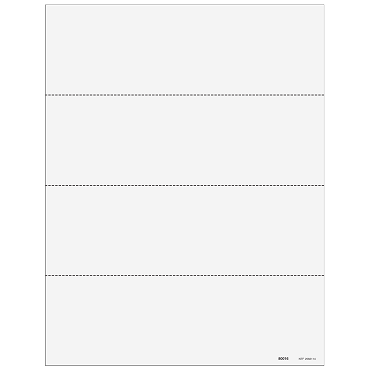 4up Horizontal Blank Laser Paper