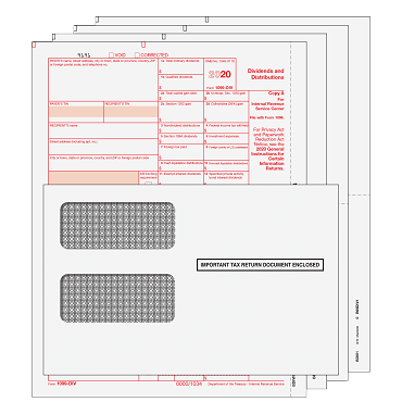 1099-DIV Kit with Moisture Seal Envelopes - 4pt