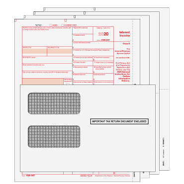1099-INT Kit with Self Seal Envelopes - 4pt