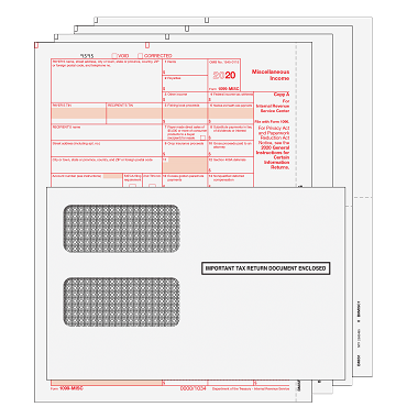 1099-MISC Kit with Self Seal Envelopes - 4pt