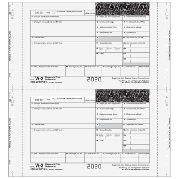 W-2 One-Wide Self-Mailer - 3pt