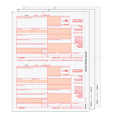 1099-MISC Preprinted Set - 3pt(minimum 10 or increments of 25)